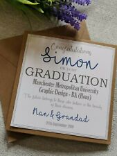 GRADUATION Card, PERSONALISED, WELL DONE On Passing Your Exams, CONGRATULATIONS