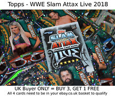 Topps WWE Slam Attax Live 2018 TCG -{select your}- CHAMPION Superstar Foil cards