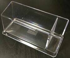 4 X ACRYLIC DESK BUSINESS NAME VISITING CARD HOLDERS WITH PEN HOLDER STAND