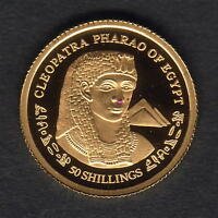 Somalia. 2004 Gold 50 Shillings.. Cleopatra. 1.224gms  .9999 gold.. Proof