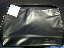 NWT DK Donna Karan Cashmere Fragrance Collection Tote Bag Black Faux Leather
