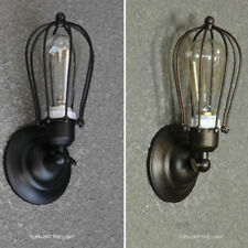 Wall Industrial Decor Iron Rustic Cages Retro Vintage Loft Light Sconce Lamp
