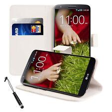 Pellicola + Pennino + Custodia portafogli BOOK supporto per LG Optimus G2 Bianca