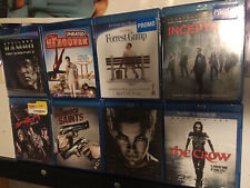 Eight (8) Movie Blu-Ray Lot Classic Movies Inception Rambo Forrest Gump Crow