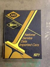 Mitchell National Service Data Imported Cars 1971