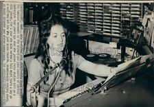 1972 KARY Radio Deejay Rita Stacy in Control Room 1970s Prosser WA Press Photo