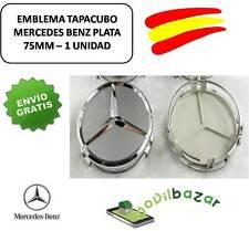 MERCEDES LOGO TAPAS LLANTAS TAPACUBOS 1 UNIDAD 75MM EMBLEMAS. DESDE ESPAÑA
