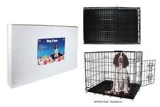 Nouveau!!! medium métal noir chien, chiot cage, lit, transporteur, transport, formation