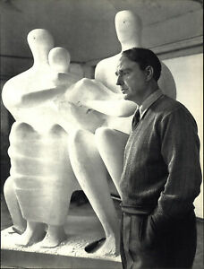 1949 1967 Henry Moore Sculptor Yousuf Karsh Portrait Art Photo Photogravure