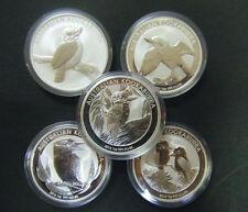 2010 2011 2012 2013 2014 $1 Australian Kookaburra 1 oz Silver Bullion Coin 5-set