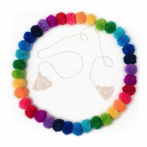 Pom Pom Garland Rainbow