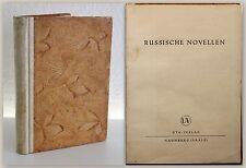 Puschkin Gogol Dostojewski Russische Novellen um 1920 UTA-Verlag Belletristik xz