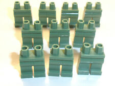 Lego Minifig Legs x 10 Sand Green