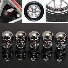 5x Universal Car Skull Wheel Tyre Tire Stem Air Valve Caps Dust Cover Decoration