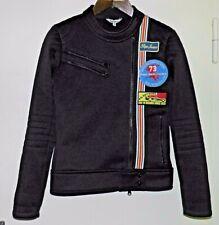 Gr. S PEPE JEANS LONDON Racing Jacke Softshell? Sportjacke Vintage Look Schwarz