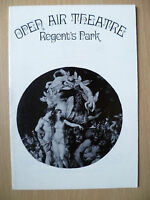 1971 Open Air Theatre Programme-A MIDSUMMER NIGHT'S DREAM by William Shakespeare