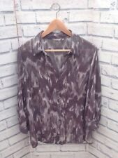 Per Una Size 18 Ladies Animal Print Blouse, Plus Size, Sheer Fabric, 3/4 Sleeves