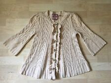 NWOT Juicy Couture Beige Wool/Cashmere Cardigan sz. P