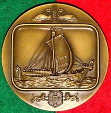 CELEBRITIES BOATS / DANISH SHIP BRONZE MEDAL BY J.ALVES