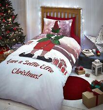 Catherine Lansfield Selfie Elfie Christmas Duvet Cover Set King