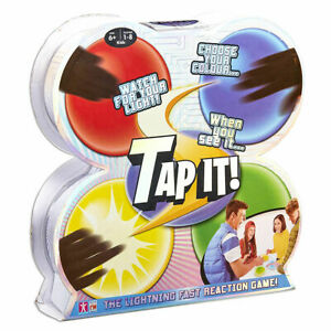 TAP-IT! Lightning Fast Reaction Family Game - Includes 4 wireless light-up pods