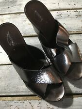 Dune Silver Crossover Wedges Size 39 Uk6