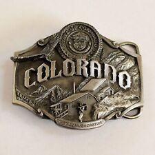 Vintage Colorado 1987 Commemorative Pewter Belt Buckle Limited Edition Siskiyou