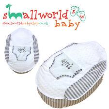 Personnalisé Garçons blanc filles Bulle polaire rayure grise pré-rempli bébé