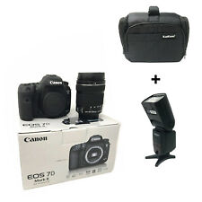 Canon 7D Mark II + 18-135mm USM + Bag + Flash - UK NEXT DAY DELIVERY