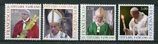 Vatican City 2018 MNH Pope Francis 4v Set Popes Religion Stamps