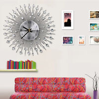 Modern Wall Clock Diamante Crystal Timelike Hanging Clock for Home Decoration