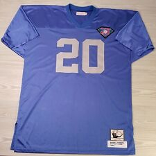 Barry Sanders #20 Detroit Lions Mitchell & Ness 75th Anniversary Edition Size 54