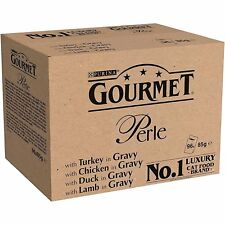 Gourmet Perle Chef's Country Collection in Gravy Turkey Chicken 96 Pouches 85g