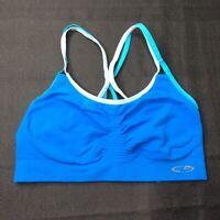 Champion C9 Women's Medium Support Strappy Back Blue Sports Bra Size Large