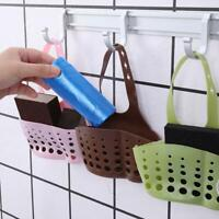 Kitchen Sink Sponge Holder Drain Hanging Strainer Organizer Storage Rack C3G1