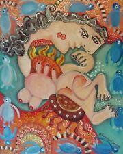 Tropical Influence Nude Pop Cubist Art Print 8x10 Artist Kimberly Helgeson Sams