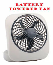 "New BATTERY OPERATED FAN 5"" Blade Camping Office Dorm Bathroom Power Outage"