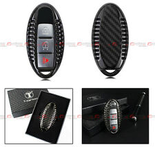 LUXURY CARBON FIBER CASE COVER FOR 2007+ UP NISSAN KEYLESS ENTRY SMART KEY FOB