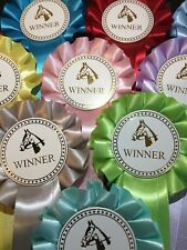 10 X 1 Tier Horse head Winner Rosettes *FREE POSTAGE*
