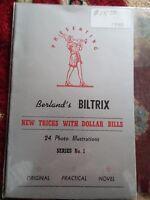 Vintage Berland's BILTRIX New Tricks with Dollar Bills Series No. 1 24 photos
