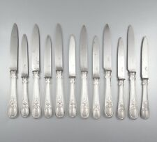 "Antique French Silver Plate Christofle Dessert & Fruits Knives, ""Trianon"" 12 pcs"