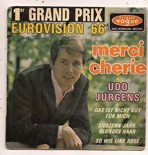 FRENCH EP UDO JURGENS MERCI CHERIE 1ER GRAND PRIX EUROVISION 66