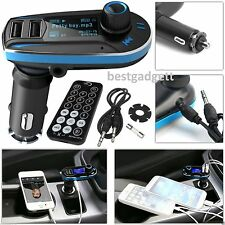 Bluetooth Mp3 Music Player Fm Transmisor Radio Manos Libres Usb Sd Cargador Kit de coche