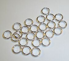 6mm silver plated Metal round split rings jewelry clasp & charm connectors 50 pc