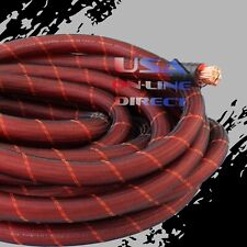 4 Gauge 20 ft Snakeskin OFC Power Wire Strands 100% Copper Voltage Marine Cable