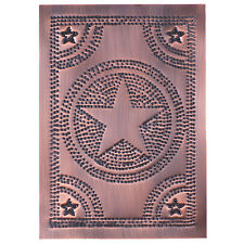 Solid copper new punched STAR cabinet panel / Nice