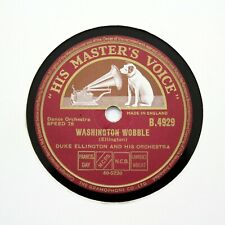 """DUKE ELLINGTON & HIS ORCHESTRA """"Washington Wobble"""" (E+) HMV B-4929 [78 RPM]"""