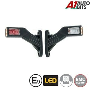 E9 HQ 12v 24v Red Amber White Stalk Side Rubber Led Marker Lights Trailer Truck