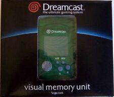 SEGA DREAMCAST GREEN LCD VISUAL MEMORY UNIT CARD VMU