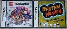 Nintendo DS Lot - LEGO Rock Band (Used) Rhythm Heaven (New)
